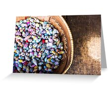Bright beads  Greeting Card