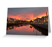 Dublin Sunset Greeting Card