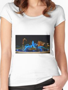 J. C. Nichols Fountain in Blue, Kansas City Women's Fitted Scoop T-Shirt