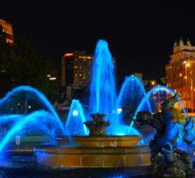 J. C. Nichols Fountain in Blue, Kansas City Sticker