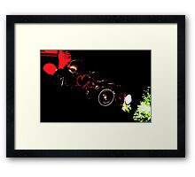 Instead of Scrapyard Heaven ~ 'Time' ~ black and red Framed Print