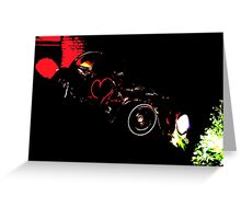 Instead of Scrapyard Heaven ~ 'Time' ~ black and red Greeting Card