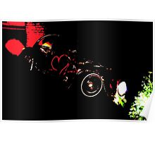 Instead of Scrapyard Heaven ~ 'Time' ~ black and red Poster