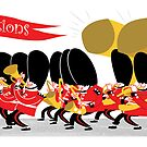 Coldstream Guards marching band by drawgood