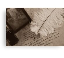 The old QUILL Canvas Print