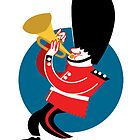 Soldier playing trumpet by drawgood