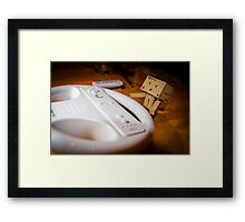 Danbo plays Wii Framed Print