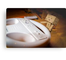 Danbo plays Wii Metal Print
