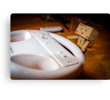 Danbo plays Wii Canvas Print