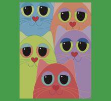 CAT FACES FIVE Kids Clothes