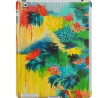 PARADISE WAITS - Beautiful Colorful Tropical Abstract Acrylic Painting Crimson Kelly Green Lagoon iPad Case/Skin