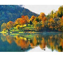 autumn lake Photographic Print