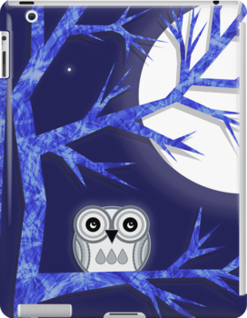 Snowy Owl iPad Case by Louise Parton