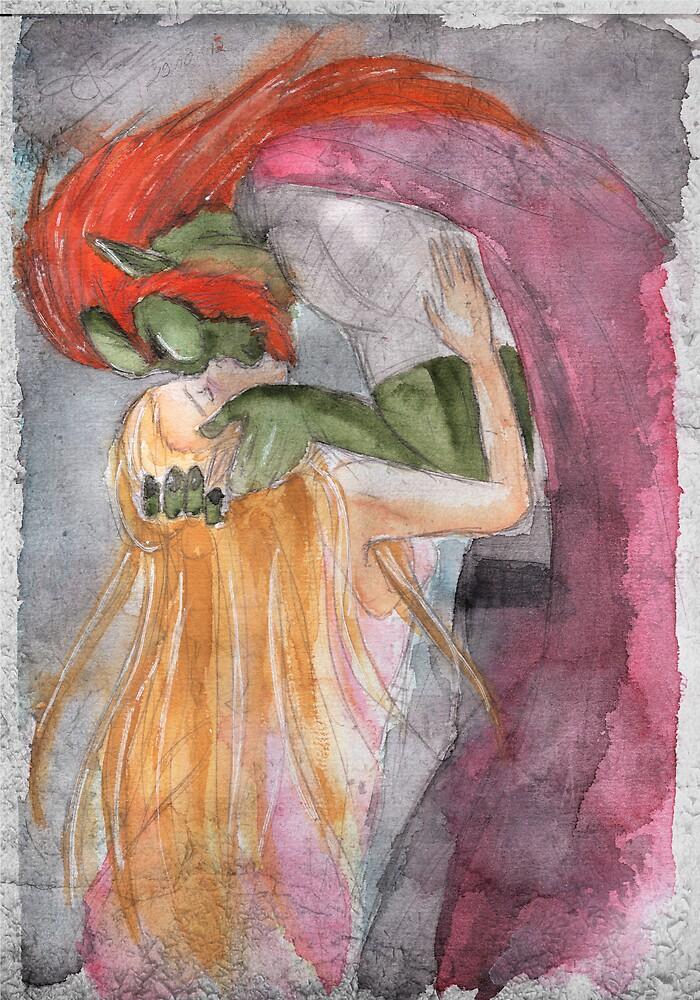 Kissing - Ganondorf x Zelda by Majinchris