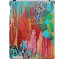 REVISIONED RETRO - Bright Bold Red Abstract Acrylic Colorful Painting 70s Twist Vintage Style Hip iPad Case/Skin