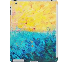 THE DIVIDE - Stunning Bold Colors, Ocean Waves Sun, Modern Beach Chic Theme Abstract Painting iPad Case/Skin