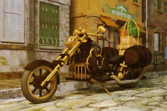 Steampunk Motorbike by Liam Liberty