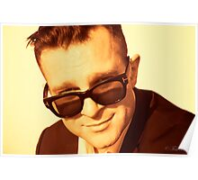 David Campbell - Retro portrait 2012 Poster