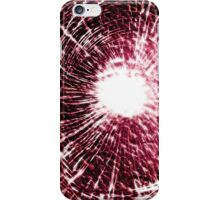 Red shatter case (GLOW) iPhone Case/Skin