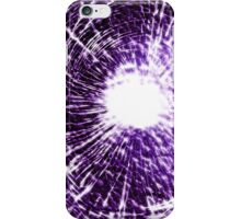Purple shatter case (GLOW) iPhone Case/Skin