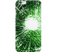 Green shatter case (GLOW) iPhone Case/Skin