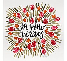 In Wine, There is Truth – Red Photographic Print