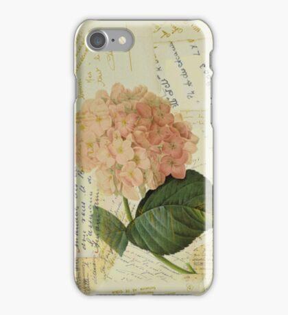 Decoupage hydrangea iPhone Case/Skin