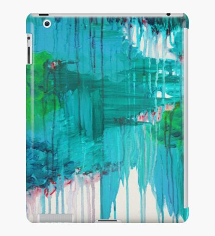 BLUE MONSOON - Stunning Rain Storm Dark Teal Clouds Vancouver Navy Royal Blue Kelly Green Crimson Red Purple iPad Case/Skin