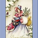 Bonne Annee Holiday Christmas Card by Pamela Phelps