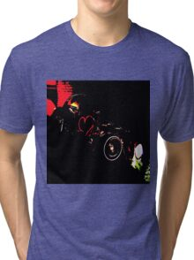 Instead of Scrapyard Heaven ~ 'Time' ~ black and red Tri-blend T-Shirt