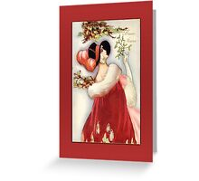 Deco Woman Holiday Christmas Card Greeting Card