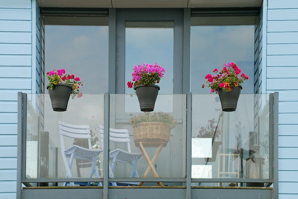 Balcony in Stavoren - the Netherlands by Arie Koene