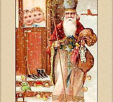 St. Nicolas Holiday Christmas Card by Pamela Phelps