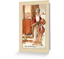 St. Nicolas Holiday Christmas Card Greeting Card