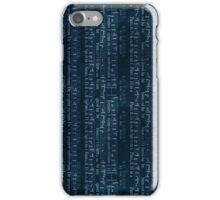 Dark Blue Music iPhone Case/Skin