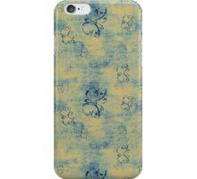 Dark Blue Butterflies on Grunge iPhone Case/Skin