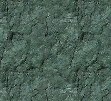 Chiseled Gray Green Rock by pjwuebker