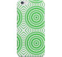 Bright Green Tile Circles iPhone Case/Skin