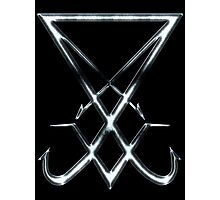 THE SIGIL OF LUCIFER - dirty chrome Photographic Print