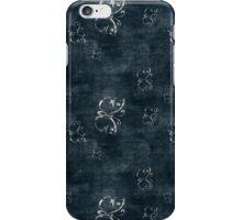 Antique White Butterflies on Dark Blue iPhone Case/Skin