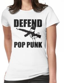 Hank The Pigeon, Defend Pop Punk Womens Fitted T-Shirt