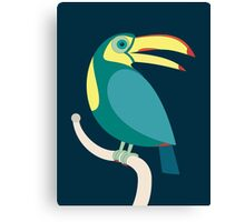 TOUCAN WITH RED NAILS Canvas Print