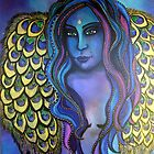 Peacock Ore Goddess - Original Painting by Maradiop