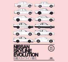 Nissan Skyline History One Piece - Short Sleeve
