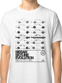 Nissan Skyline History Classic T-Shirt