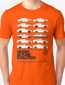 Nissan Skyline History Unisex T-Shirt