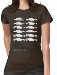 Nissan Skyline History Womens Fitted T-Shirt