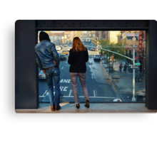 Watching the World: the High Line Canvas Print