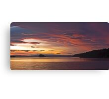 White Beach sunset Canvas Print