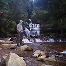 Zentai Bob tries his luck at Liffey Falls, Tasmania Australia by spyke